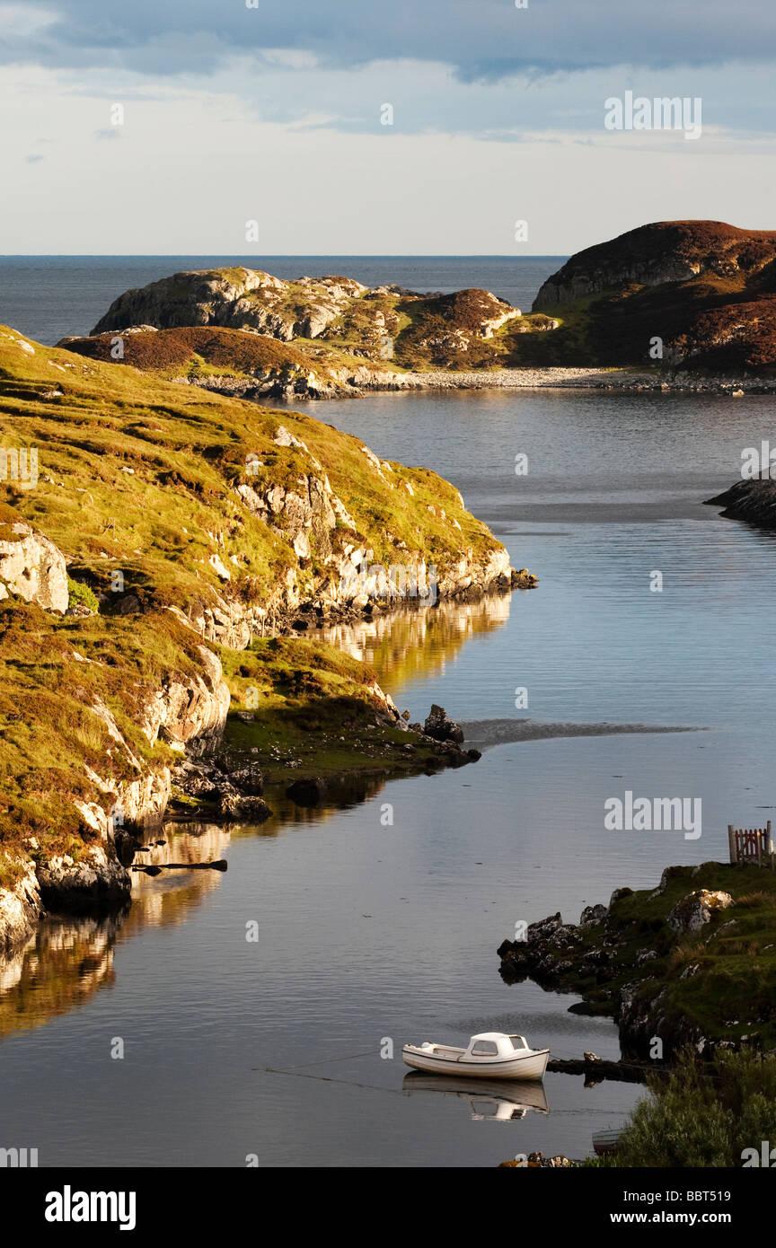Bayhead, Côte Est, Isle of Harris, Hébrides extérieures, en Écosse Photo Stock