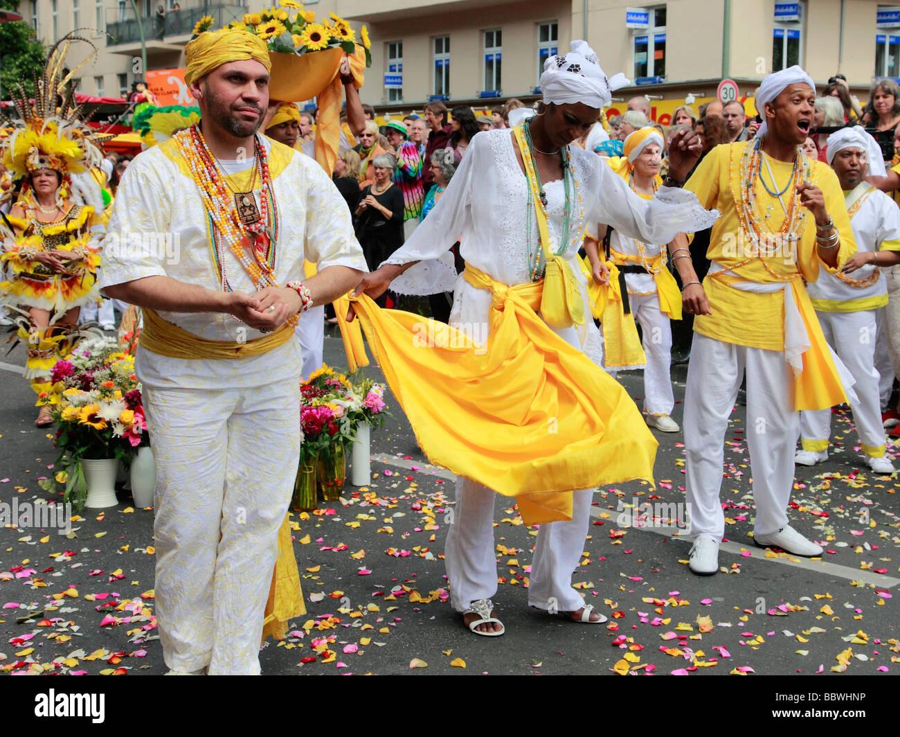 Allemagne Berlin Carnaval des Cultures peuple brésilien Photo Stock