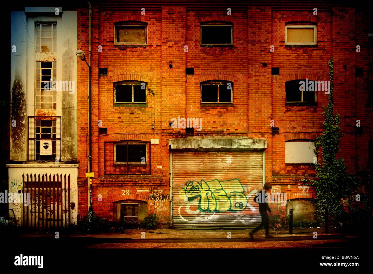 La vie de la rue en milieu urbain Photo Stock
