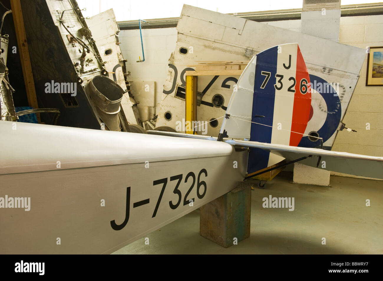 De Havilland Aviation Heritage Centre Mosquito Museum DH53 Humming Bird Tail détail 1923/4 1 de 15 construit Photo Stock