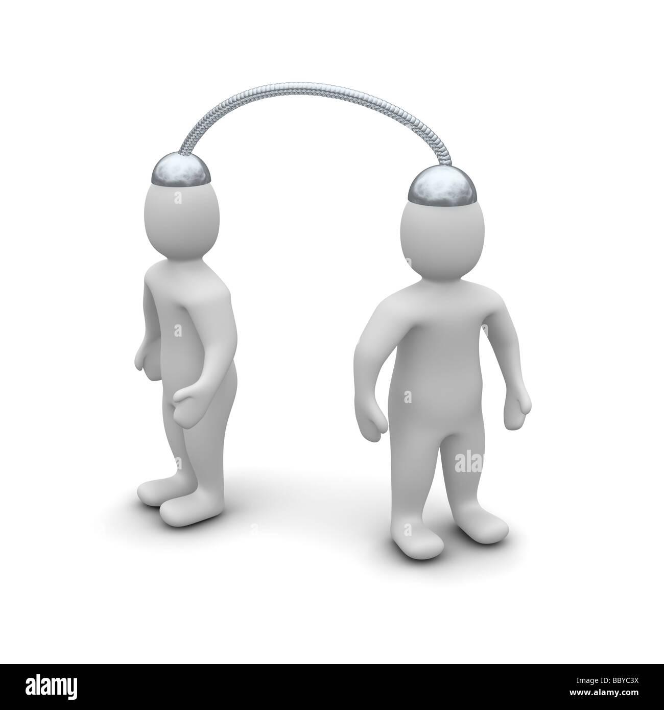 Communication de la télépathie Banque D'Images