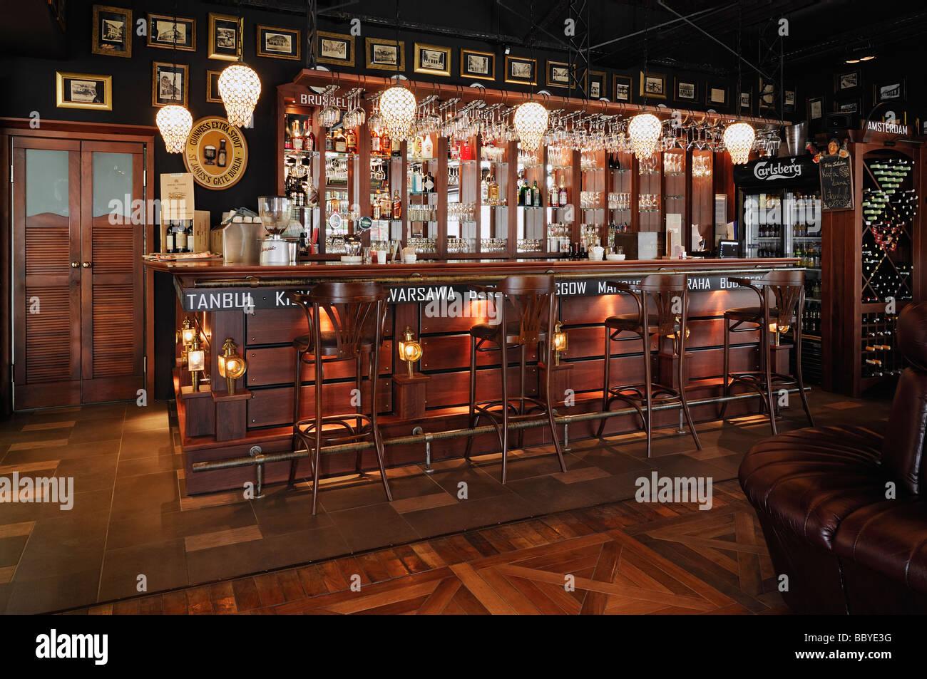 Intérieur de la pub Photo Stock