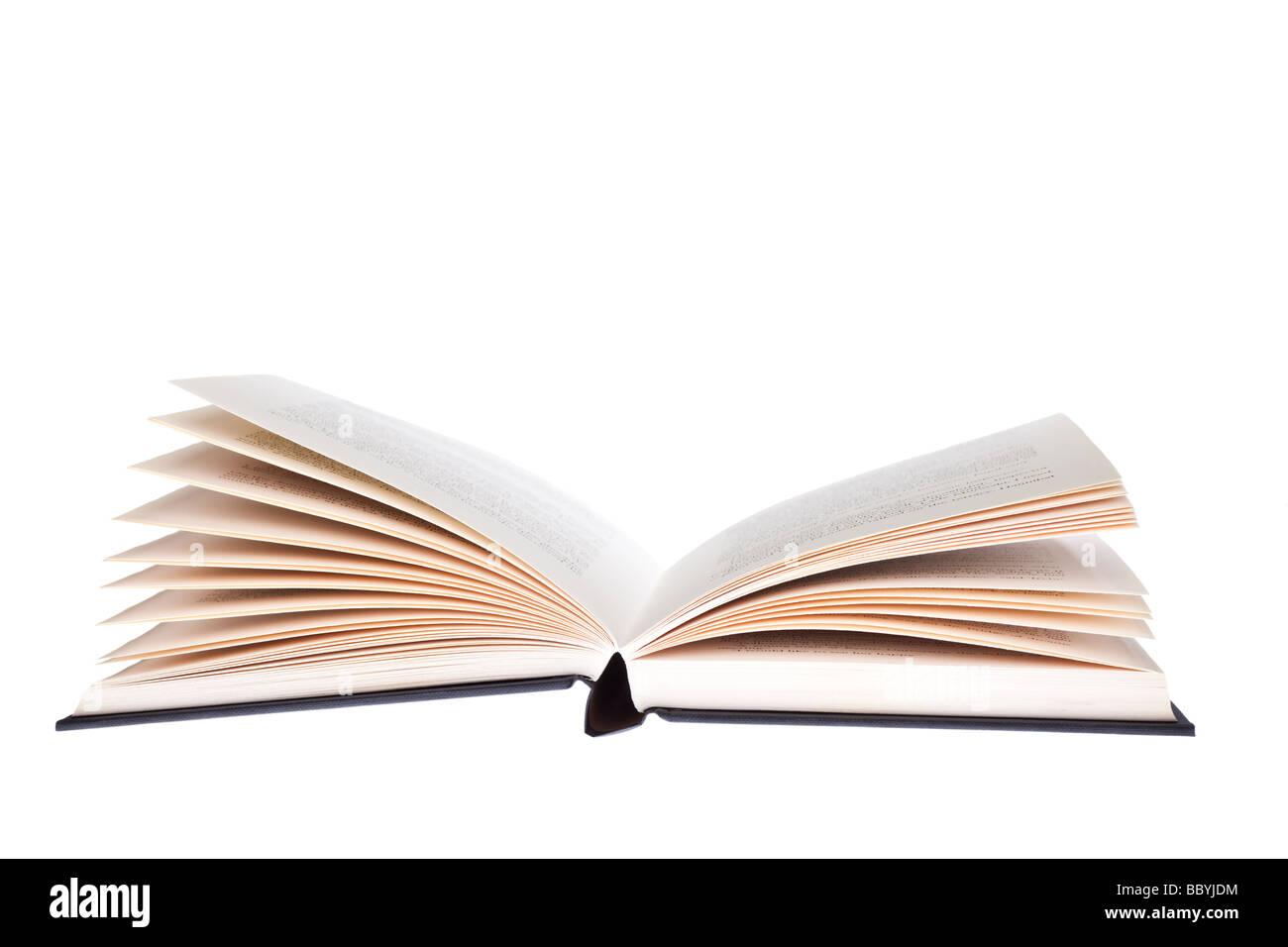 Découper le livre ouvert Photo Stock