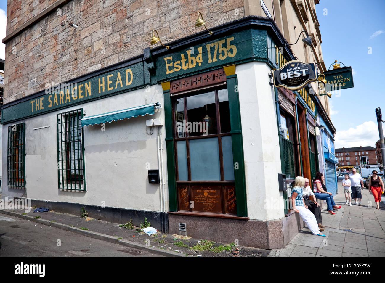La tête Sarrasine, ou Sarry Heid, un célèbre vieux pub dans la Gallowgate Région de l'Est Photo Stock