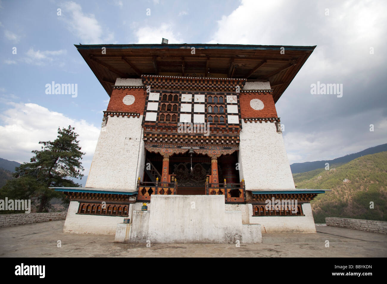 Tashi Chho Dzong du Bhoutan Photo Stock