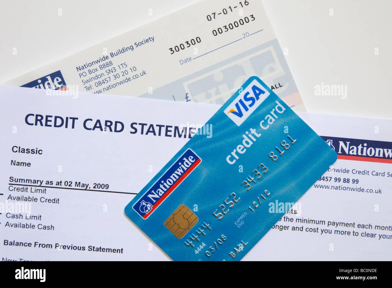 Carte Visa Angleterre.Releve De Carte De Credit Visa Card Et Carnet De Cheques De