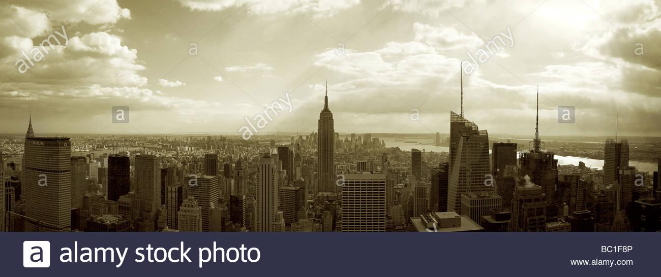 _NYC cypia Panorama Photo Stock