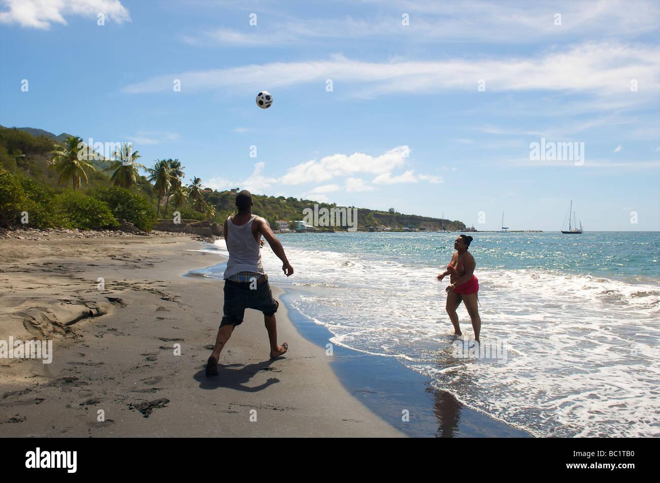 Saint Eustache Oranje beach de Oranjestad Banque D'Images
