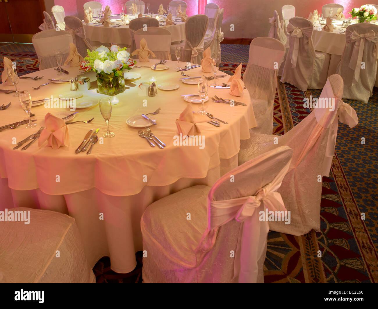 Réglage de la table de mariage élégant Photo Stock