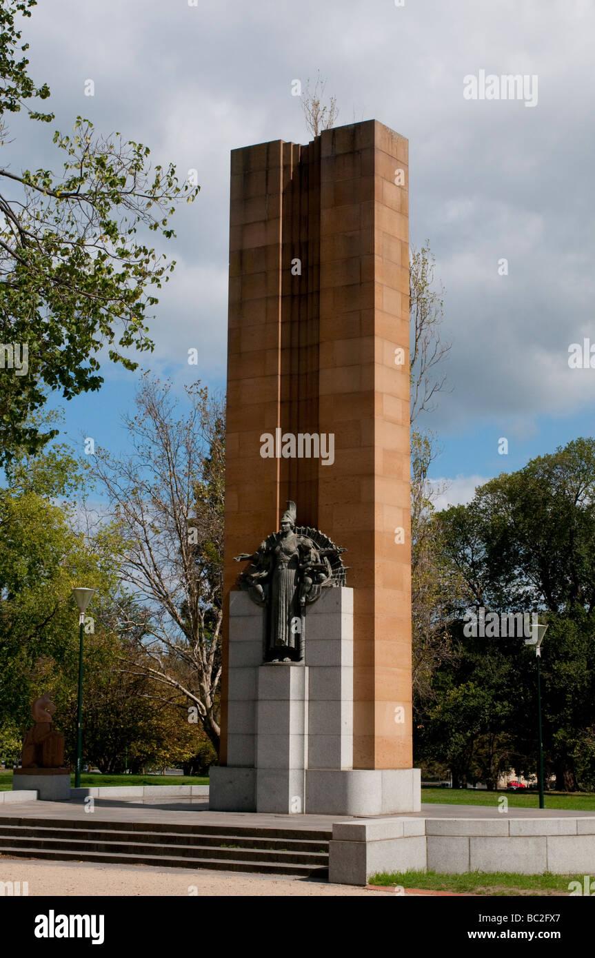 Kings parc du domaine, statue, Melbourne, Victoria, Australie Banque D'Images
