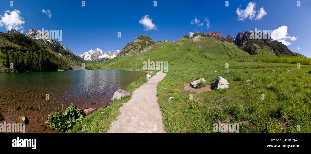 Sievers Maroon Bells Snowmass Mountain Wilderness Area White River National Forest Colorado USA Photo Stock