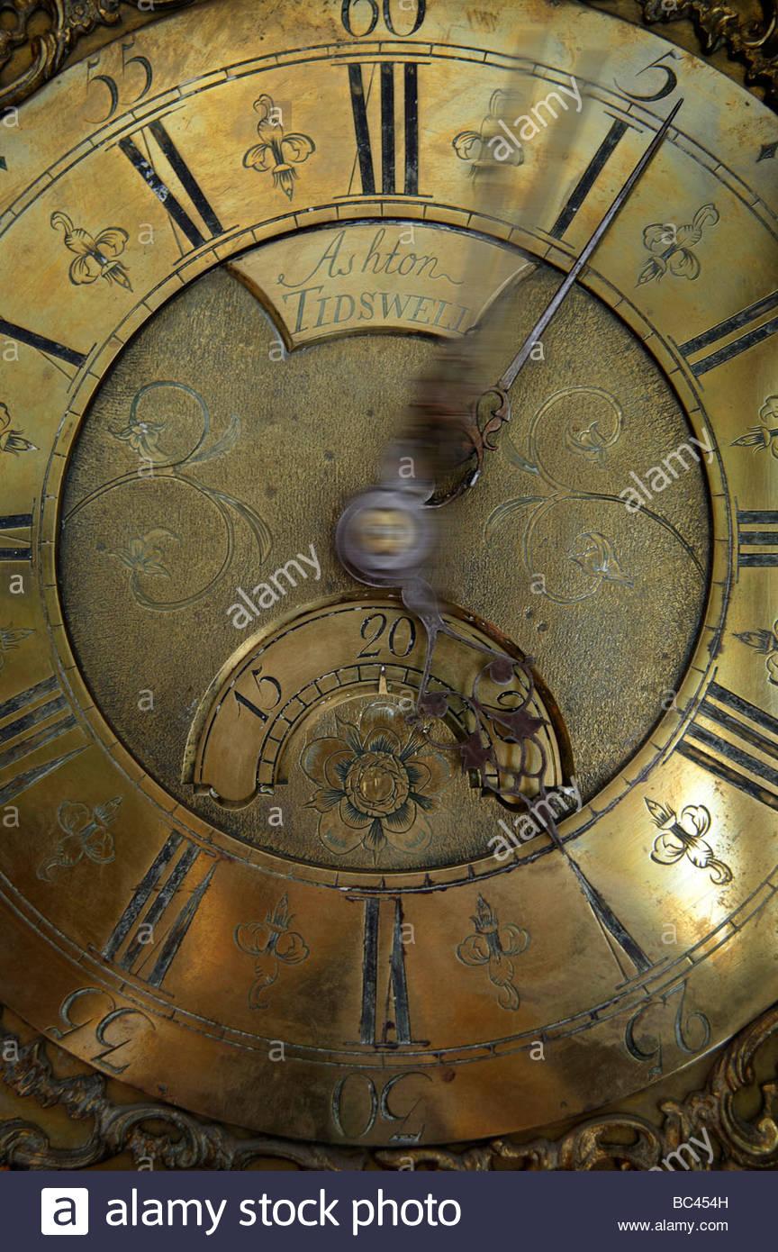 Horloge Grand-père antique, UK Photo Stock