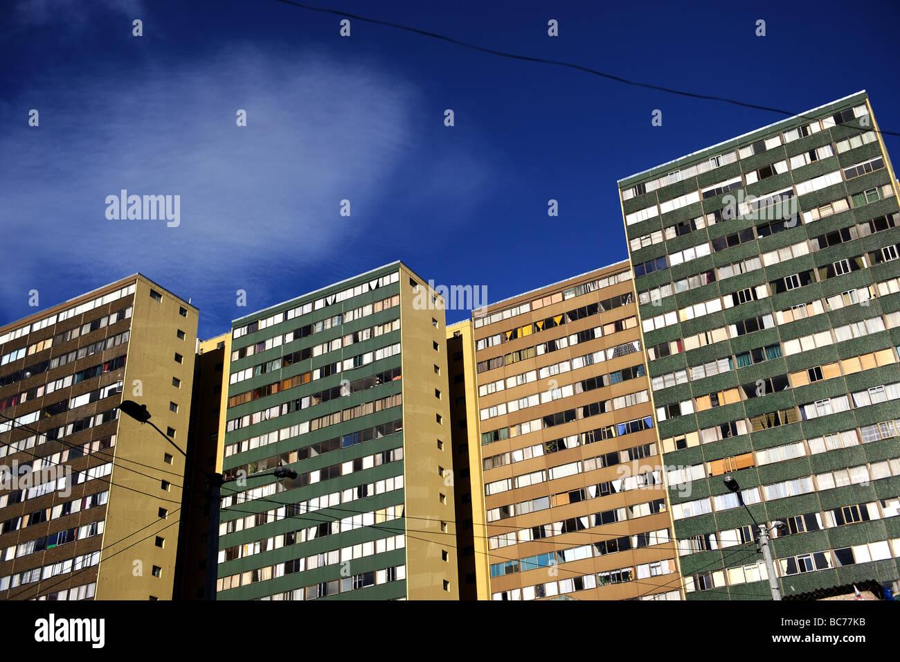 Gratte-ciel sur la quartier de La Candelaria à Bogota Colombie Photo Stock