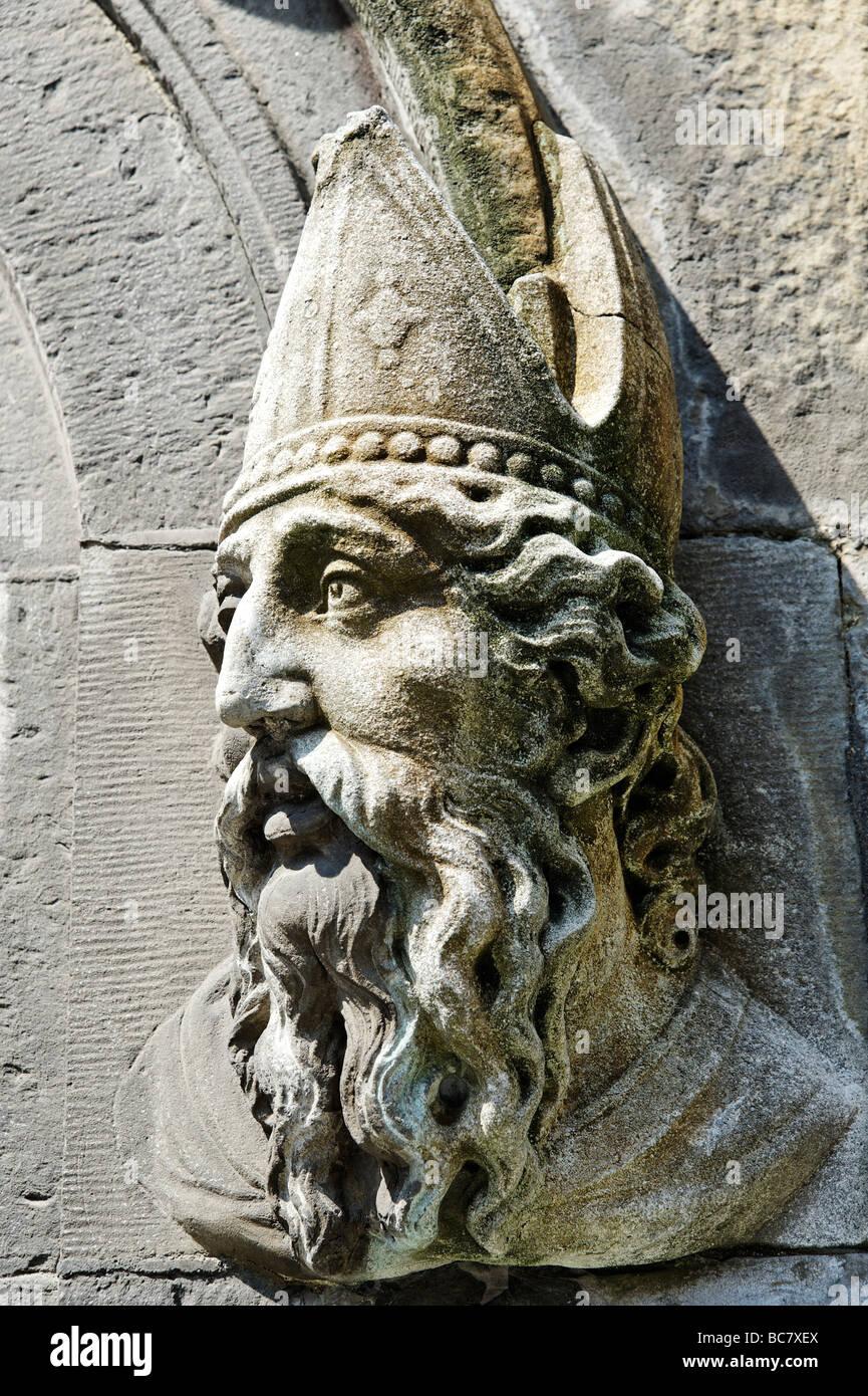 Détail architectural à côté de la porte de Chapelle Royale au château de Dublin Dublin Photo Stock