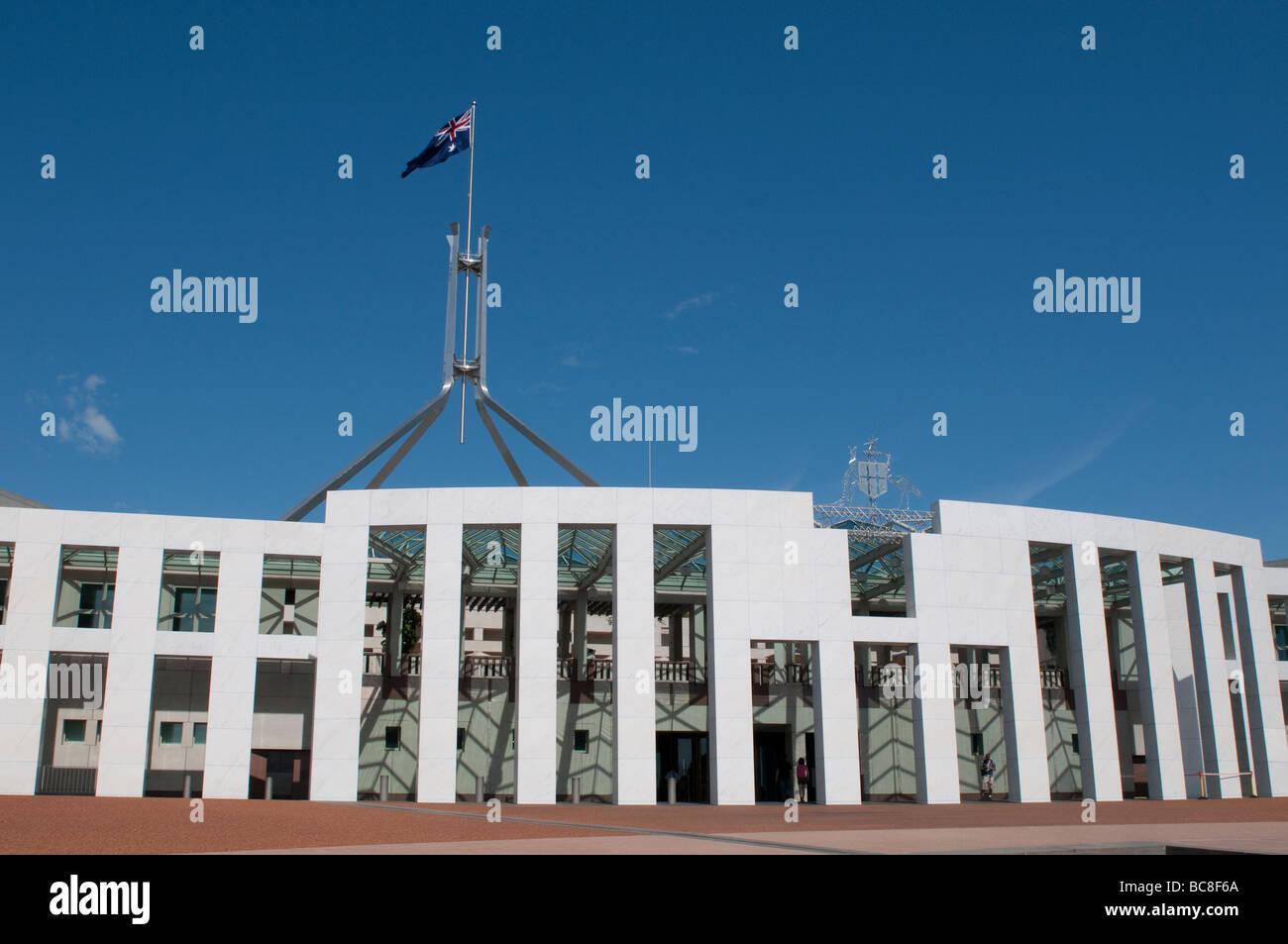 Nouveau Parlement House, Canberra, ACT, Australie Banque D'Images