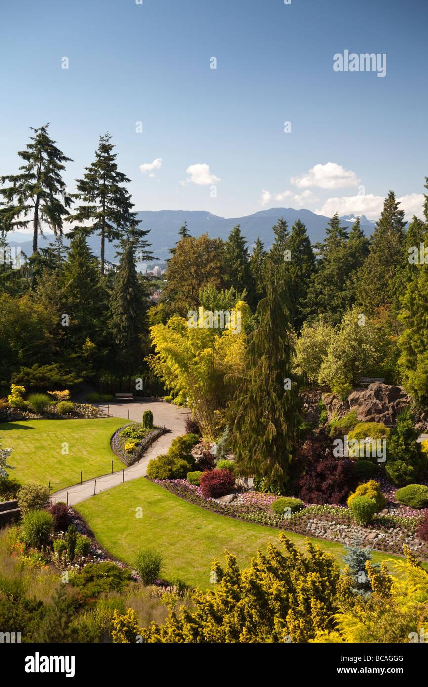 Grande carrière jardin à Queen Elizebeth Park, Vancouver, BC, Canada Photo Stock