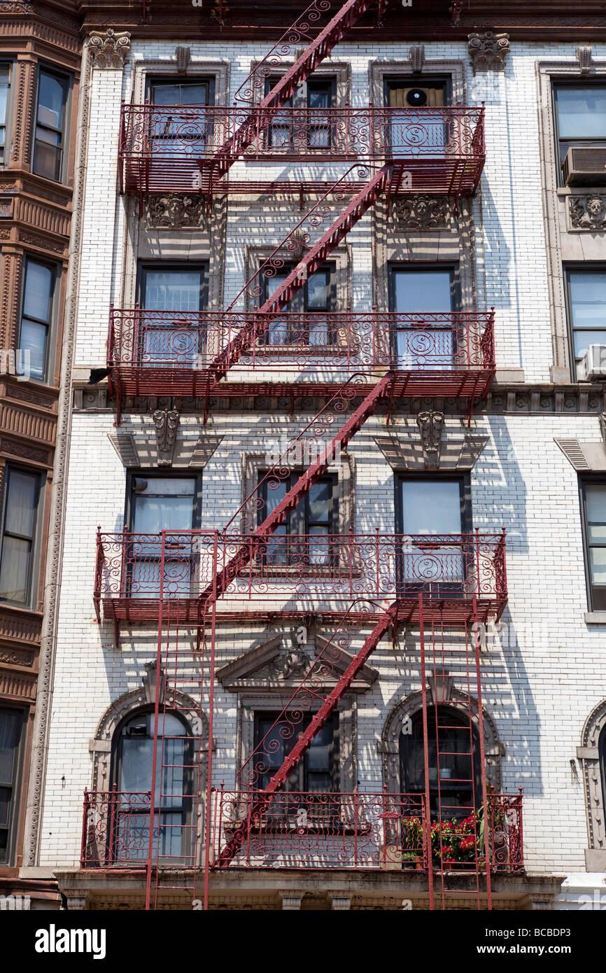 Façade de maisons à NEW YORK Photo Stock