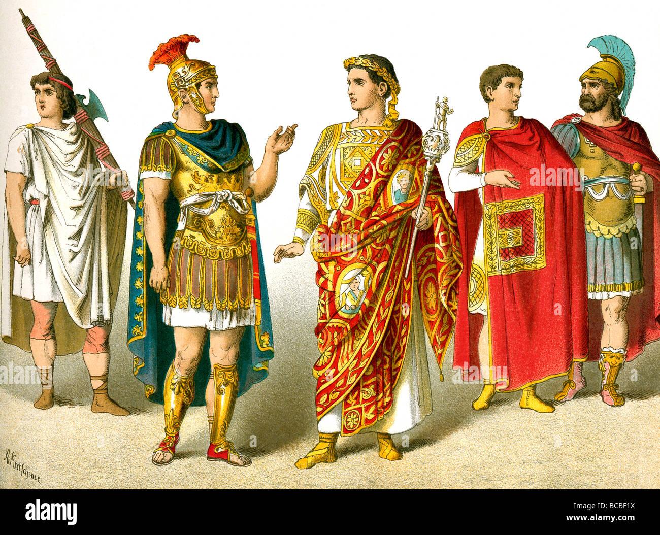 L'illustration montre un licteur romain, le général, le général célèbre un triomphe, Photo Stock