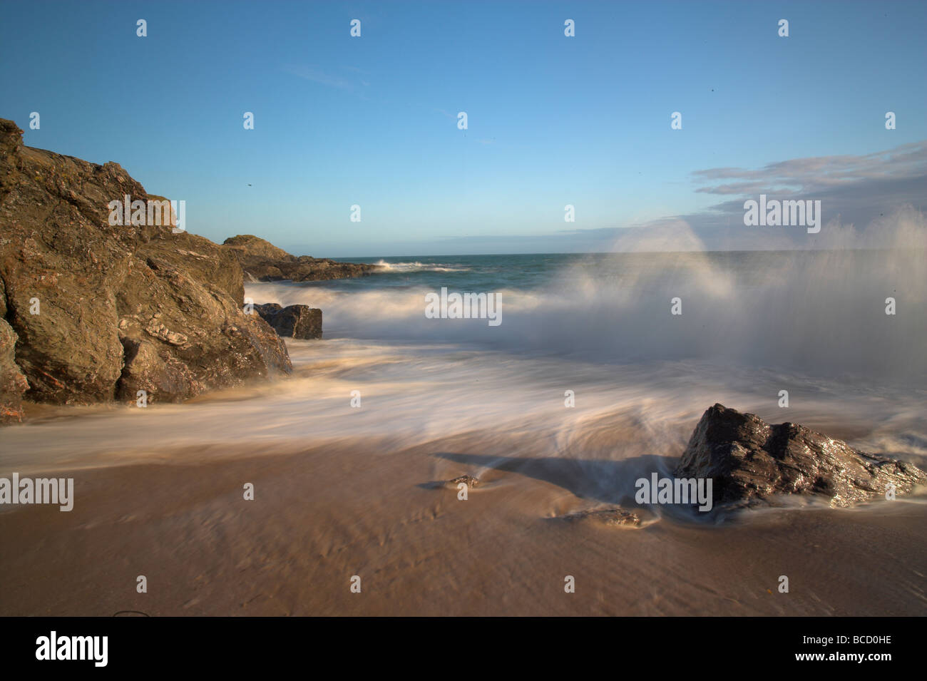 Super Mattiscombe sands. Devon Photo Stock