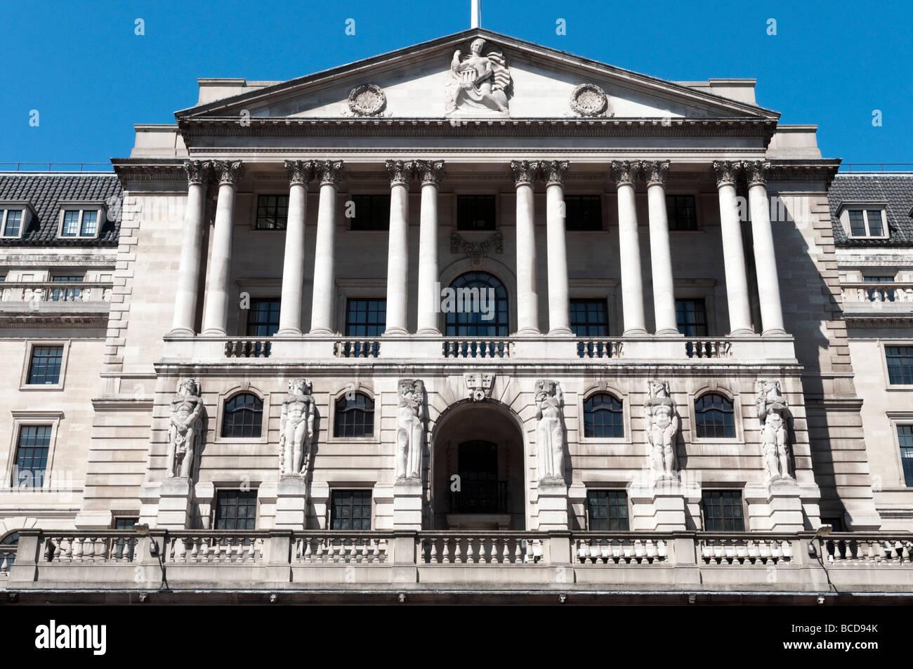 La Banque d'Angleterre dans la ville de London, UK Photo Stock