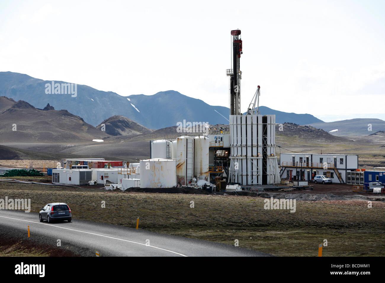 Projet de forage profond, Islande, Islande Krafla Photo Stock