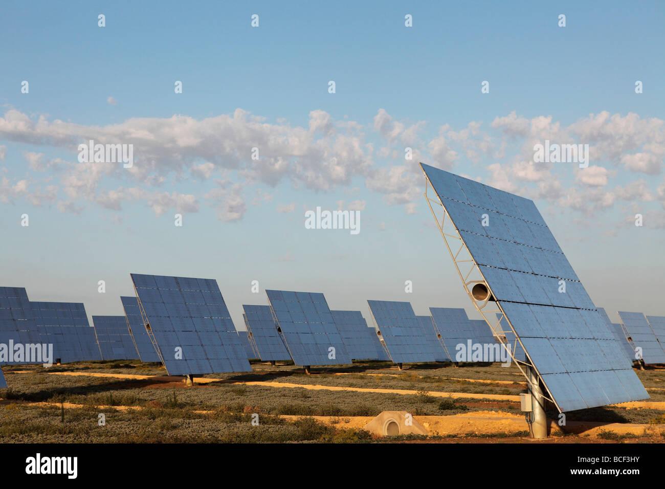 L'usine électrique construite par l'entreprise espagnole Abengo dans Sanlucar la Mayor, près de Photo Stock