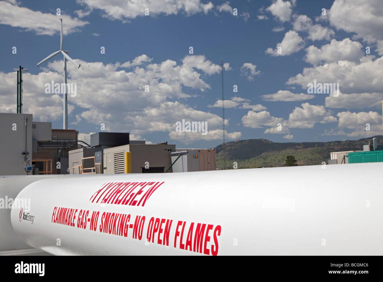 L'énergie éolienne est convertie en hydrogène au National Renewable Energy Laboratory's Wind Photo Stock