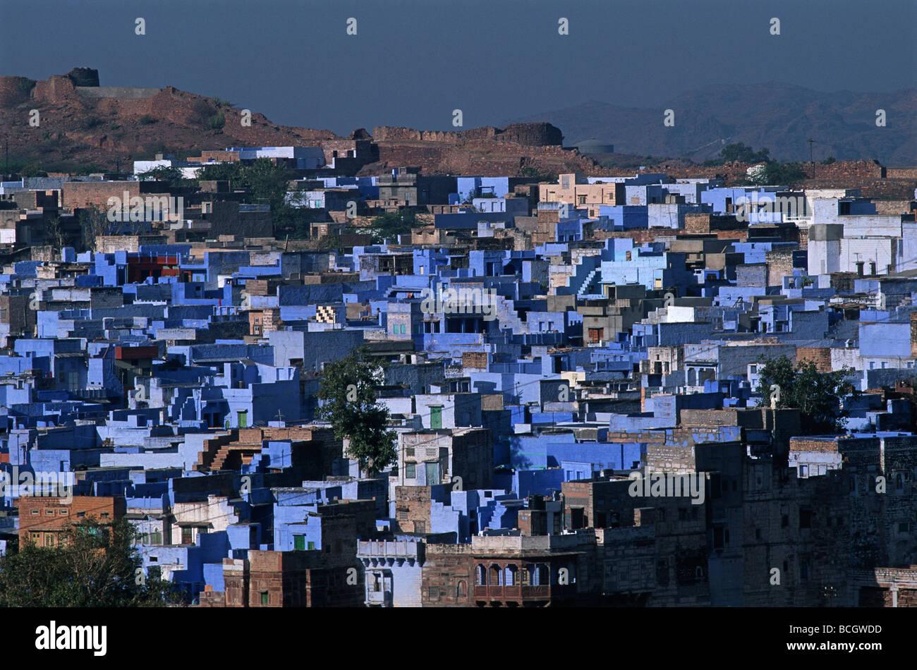 Inde Rajasthan Jodhpur la ville bleue Banque D'Images