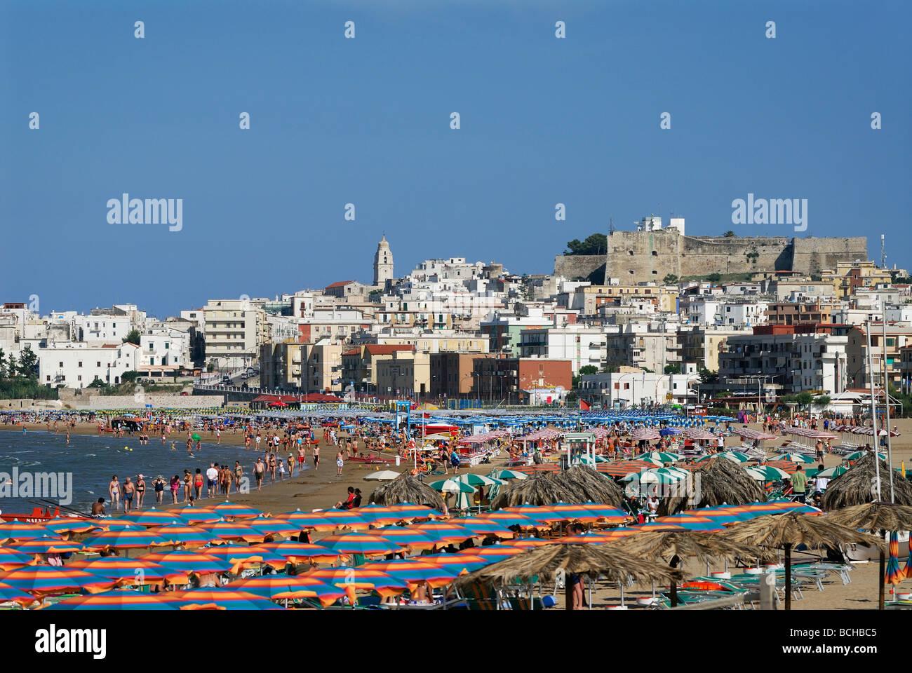 Vieste Puglia Italie Région de Gargano plages de la ville de Vieste Banque D'Images