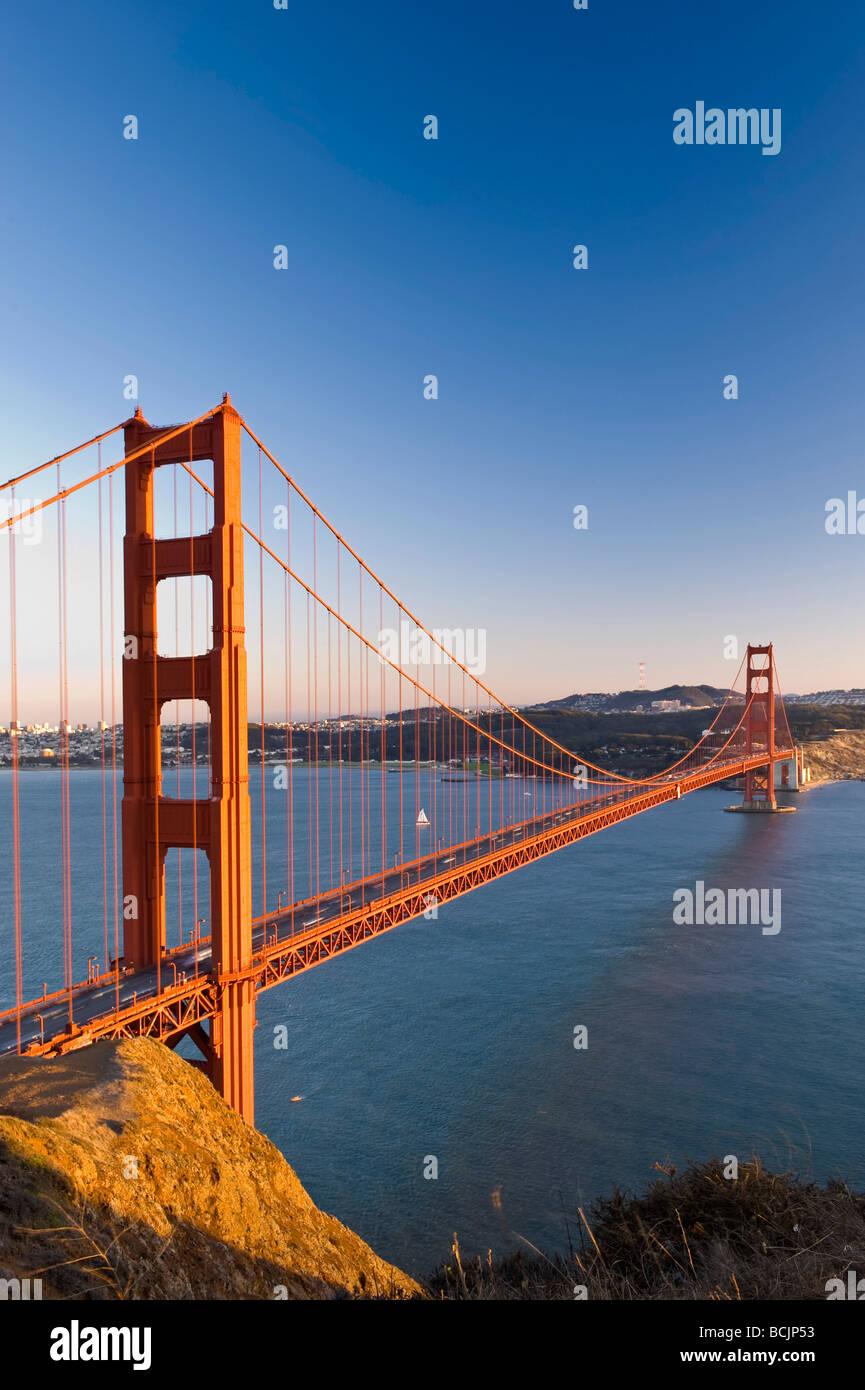 États-unis, Californie, San Francisco, Golden Gate Bridge Photo Stock