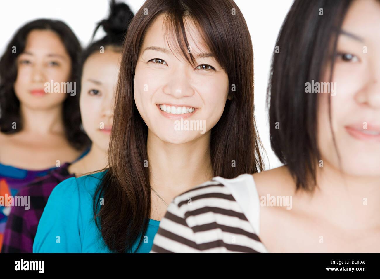 Femmes dans une rangée Photo Stock