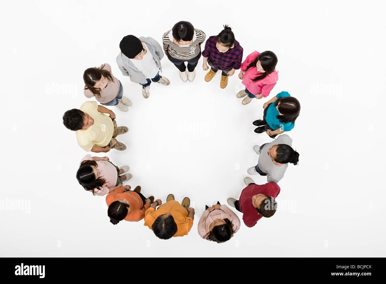 Les gens dans un cercle Photo Stock