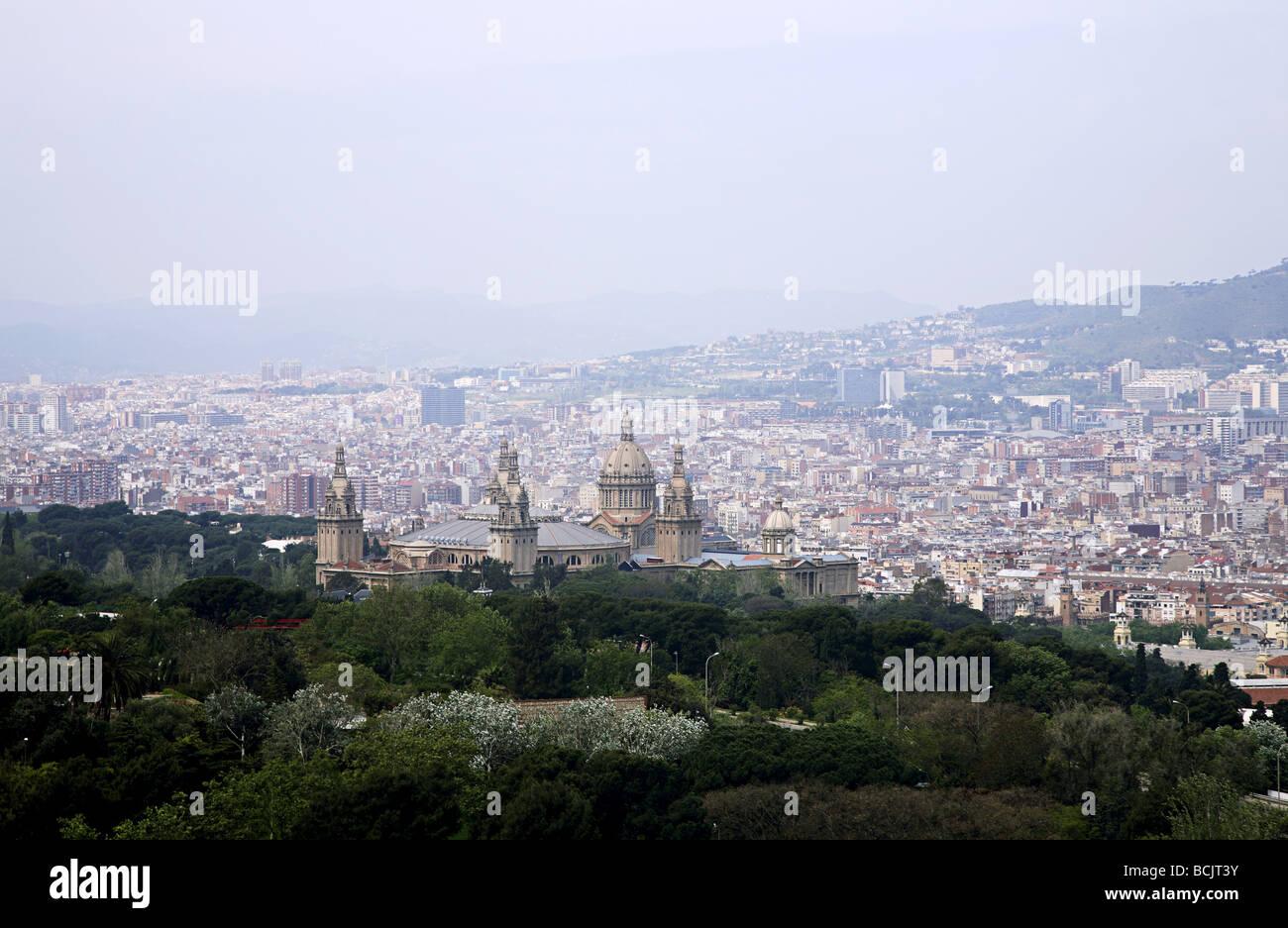 Musée national d'art de Catalogne et Barcelone Photo Stock