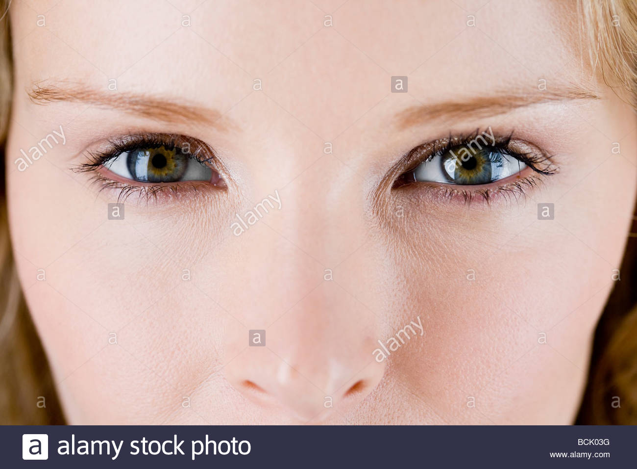 Close-up of a woman's face montrant yeux Photo Stock