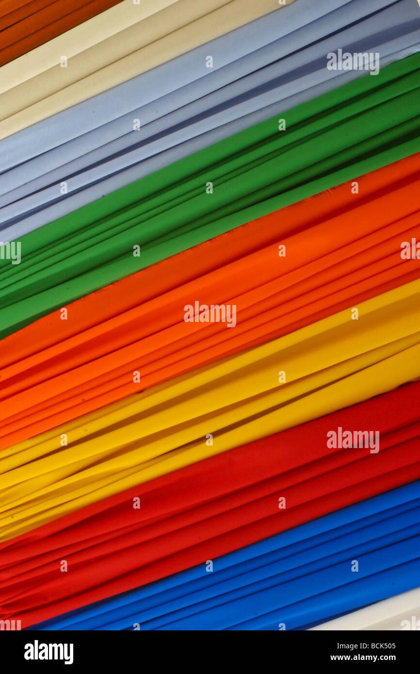 Marché intérieur en soie chiffon Matériaux tissu Photo Stock