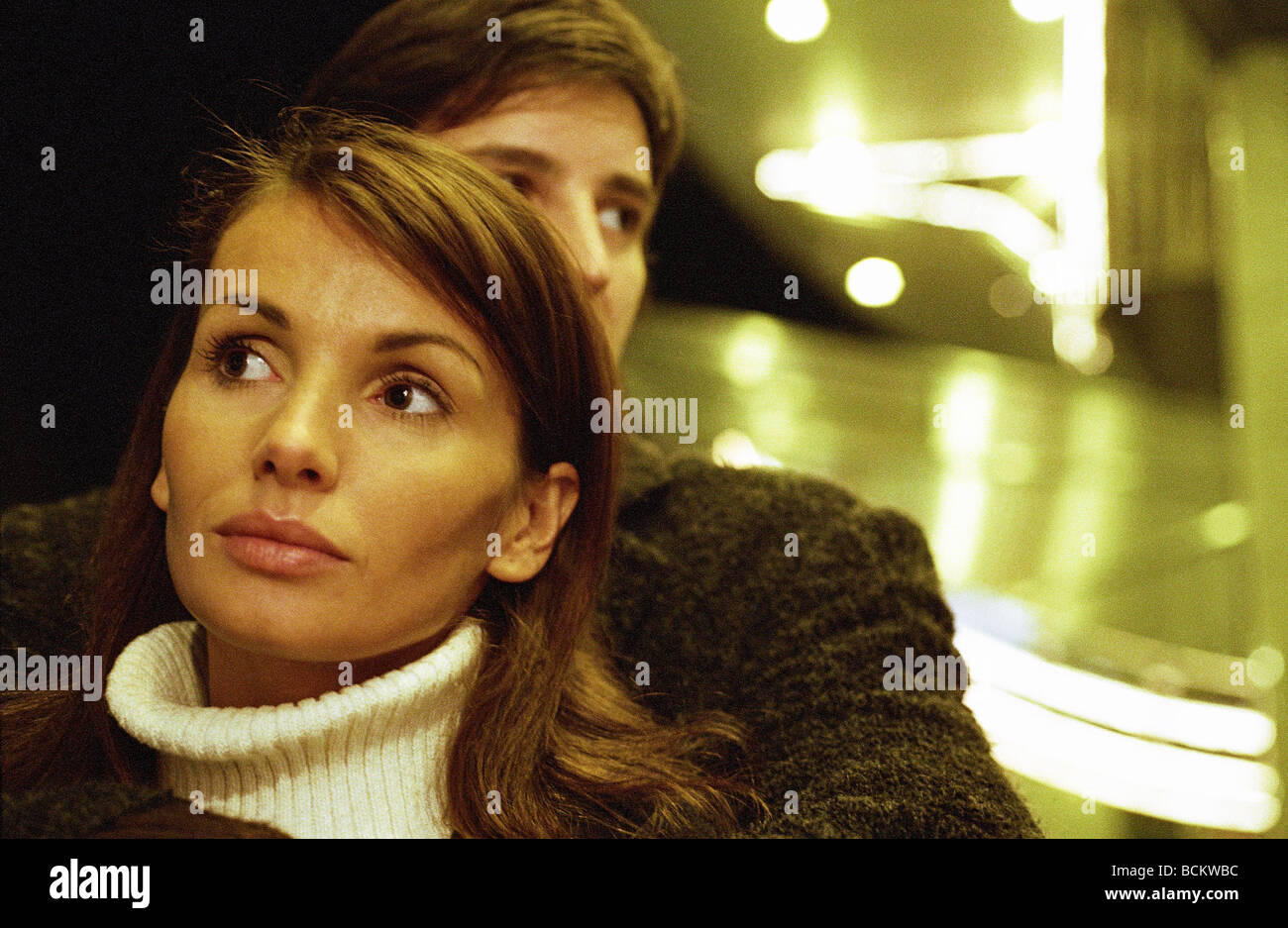 Femme et homme ensemble, la tête et épaules Banque D'Images