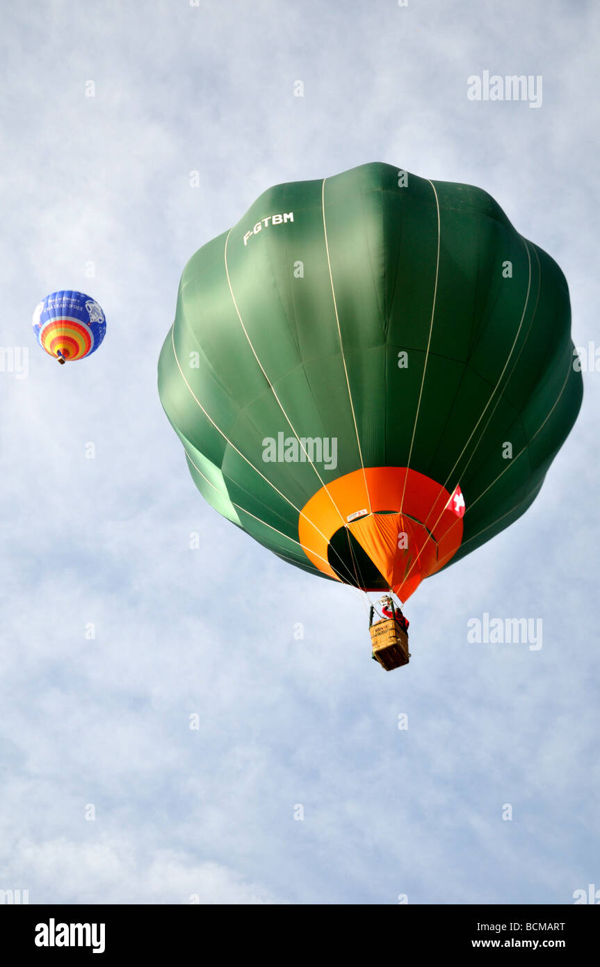 2008 Chateau d oex Hot Air Balloon Festival Suisse Europe Banque D'Images