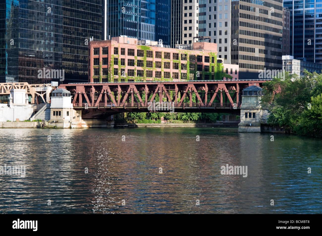 Pont de l'Avenue du Lac à Chicago Photo Stock