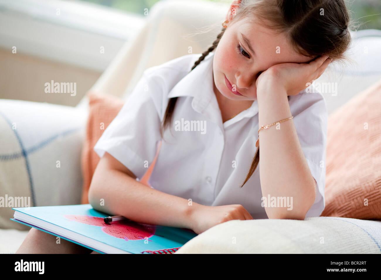 Écolière Photo Stock