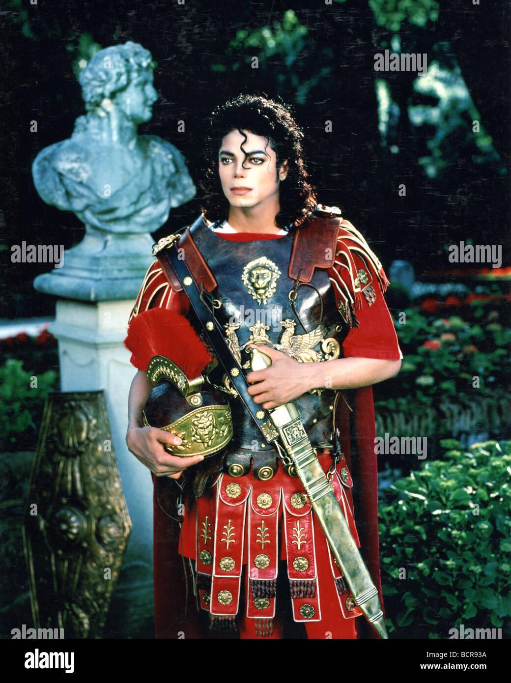 MICHAEL JACKSON comme un soldat romain à propos de 1983 Photo Stock