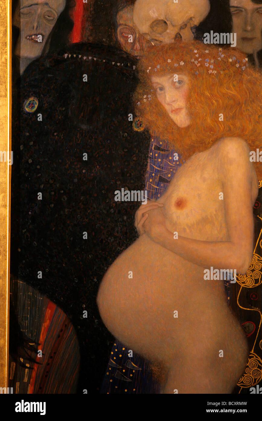Gustav Klimt, J'espère, 1903, musée des beaux-arts, Montréal, Québec, Canada Photo Stock