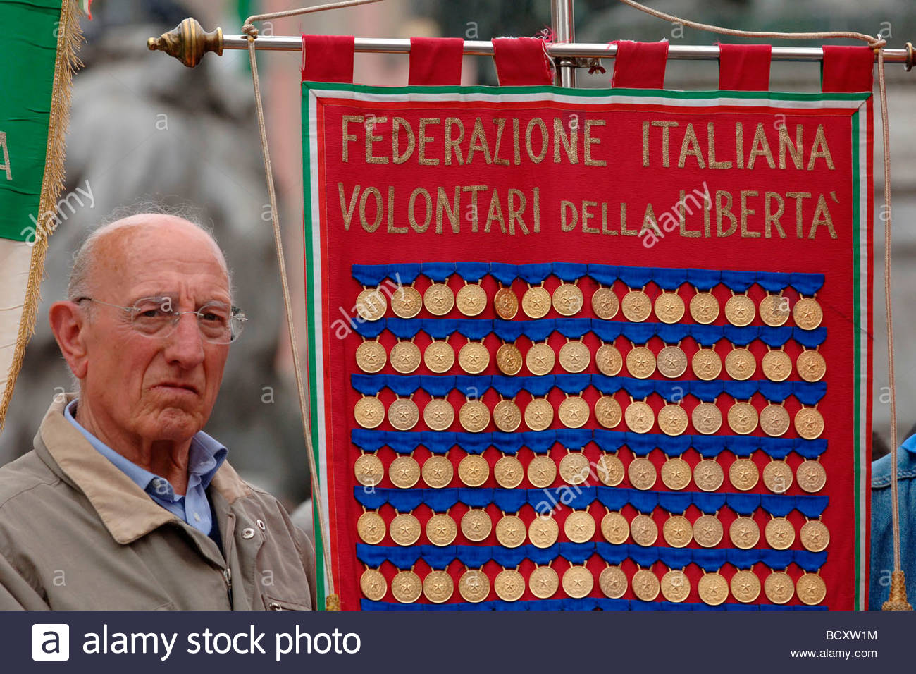 Milan, 25 avril manifestation Banque D'Images