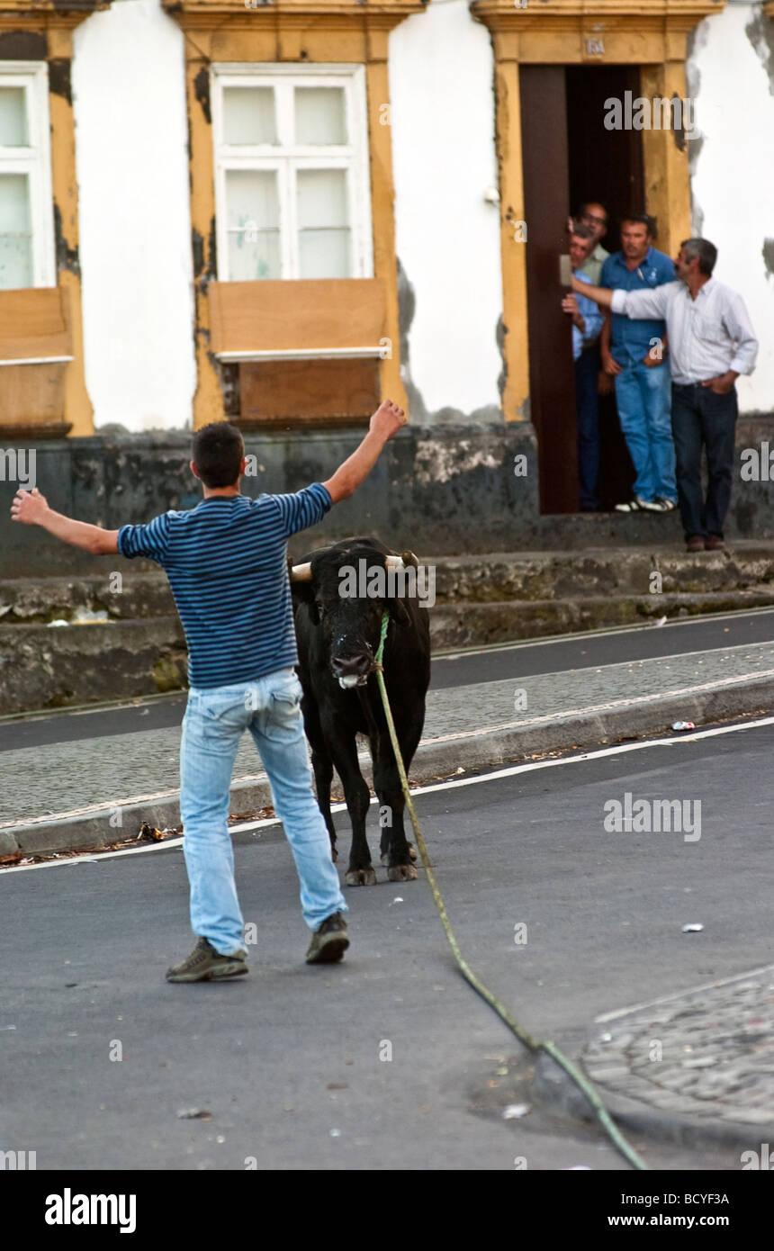 Corde traditionnelle Féria de l'île de Terceira aux Açores Photo Stock