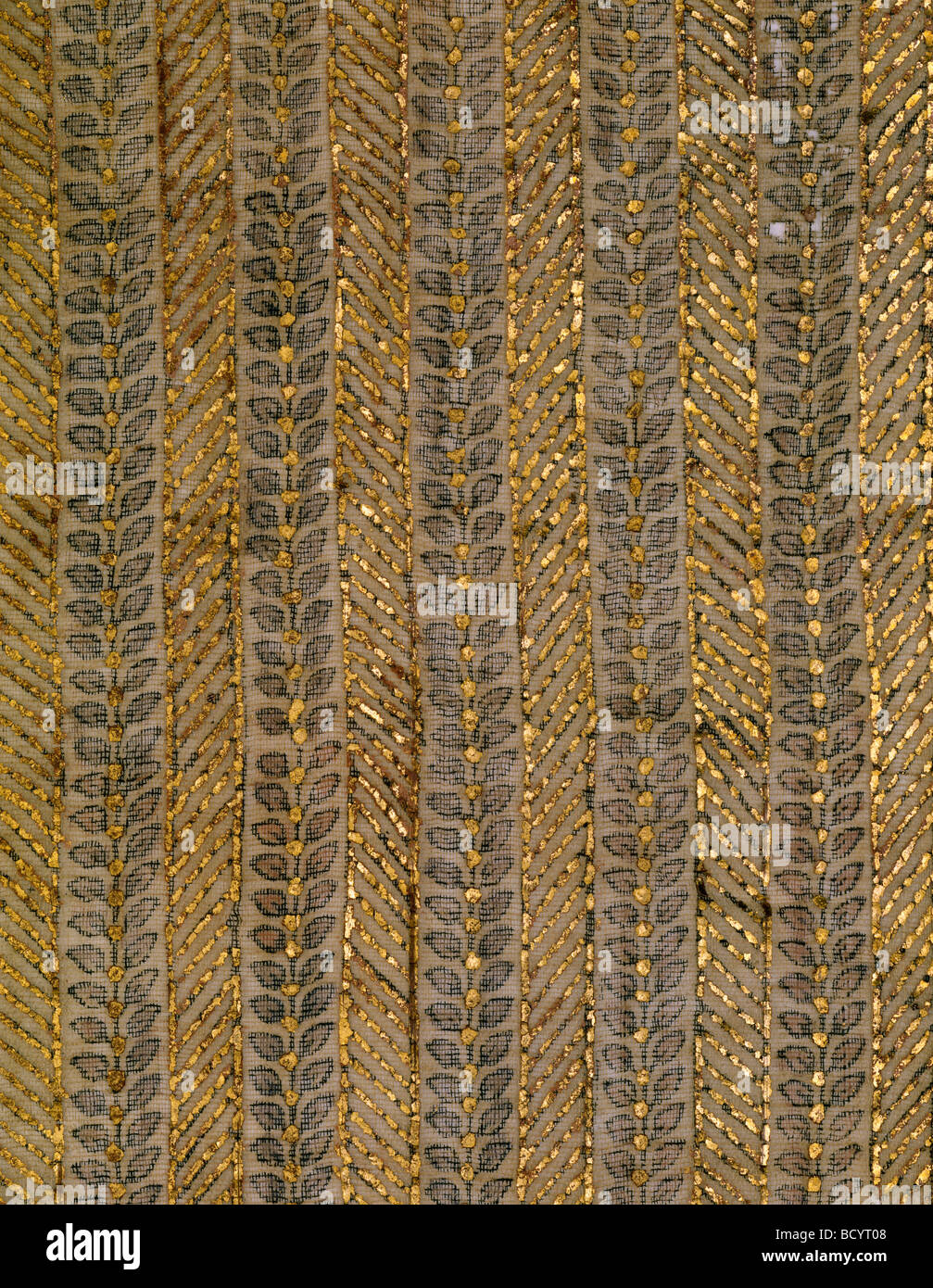 Textile. Hyderabad, Inde, 18e-19e siècle Photo Stock
