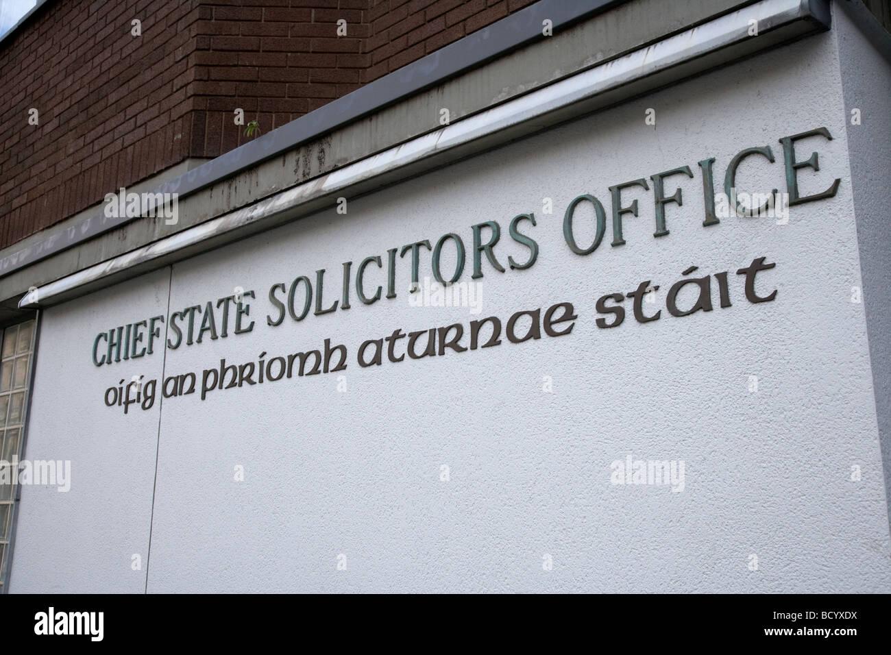 Le chef du bureau de l'état procureurs Dublin République d'Irlande Photo Stock