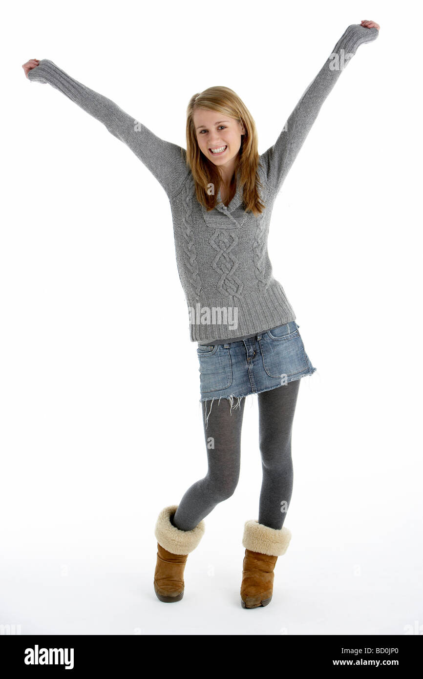 Portrait of Teenage Girl Photo Stock