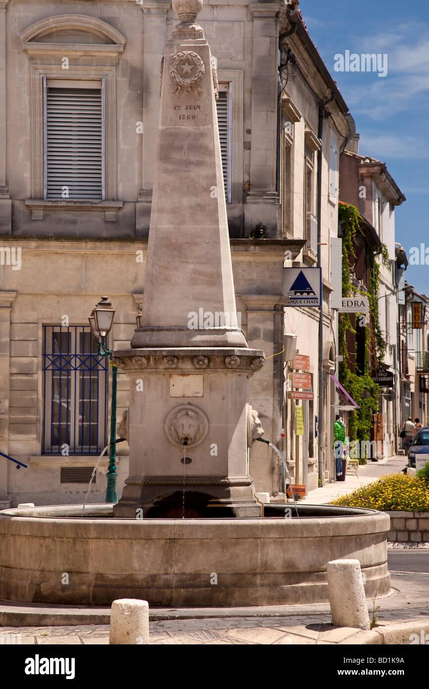 Fontaine à St Remy de Provence France Photo Stock