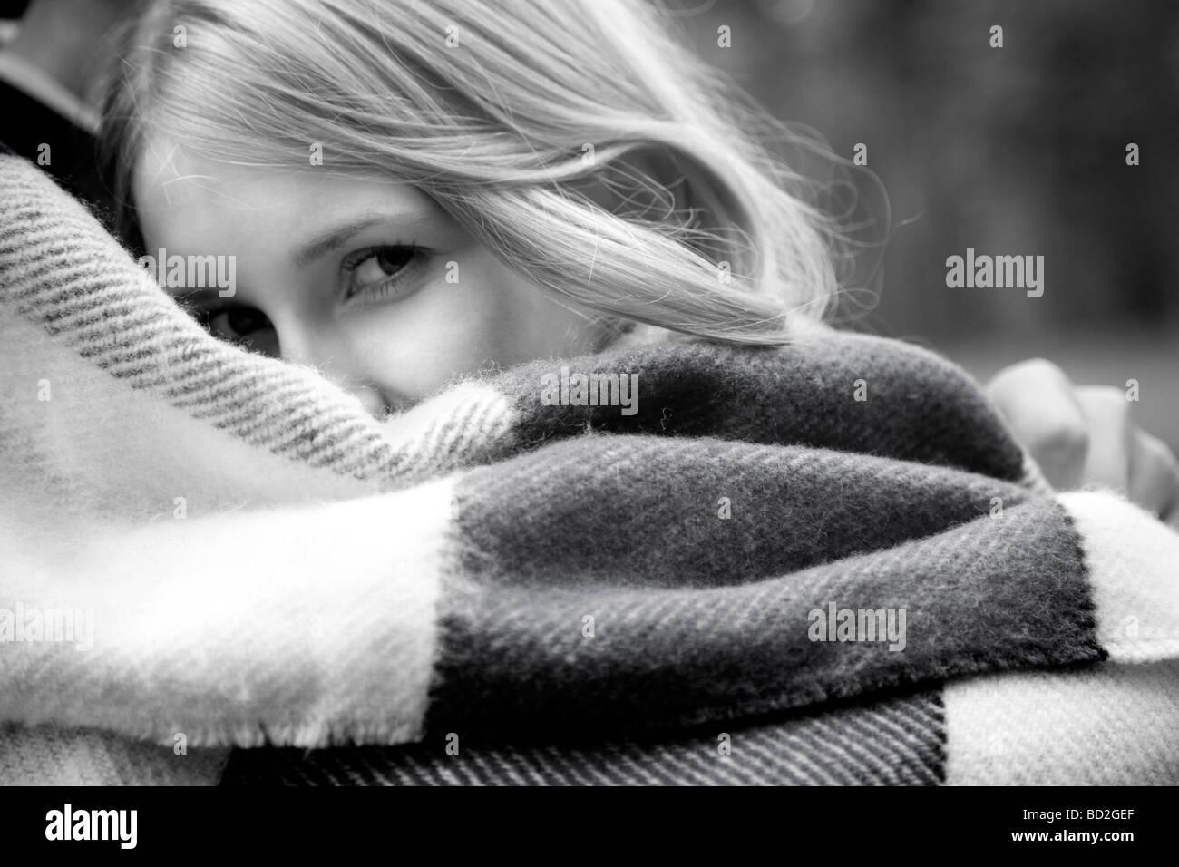 Couple blanket Photo Stock
