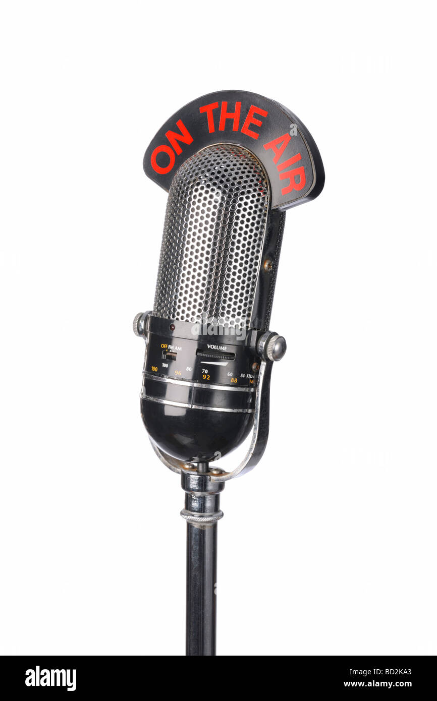 Old vintage microphone Mic Photo Stock