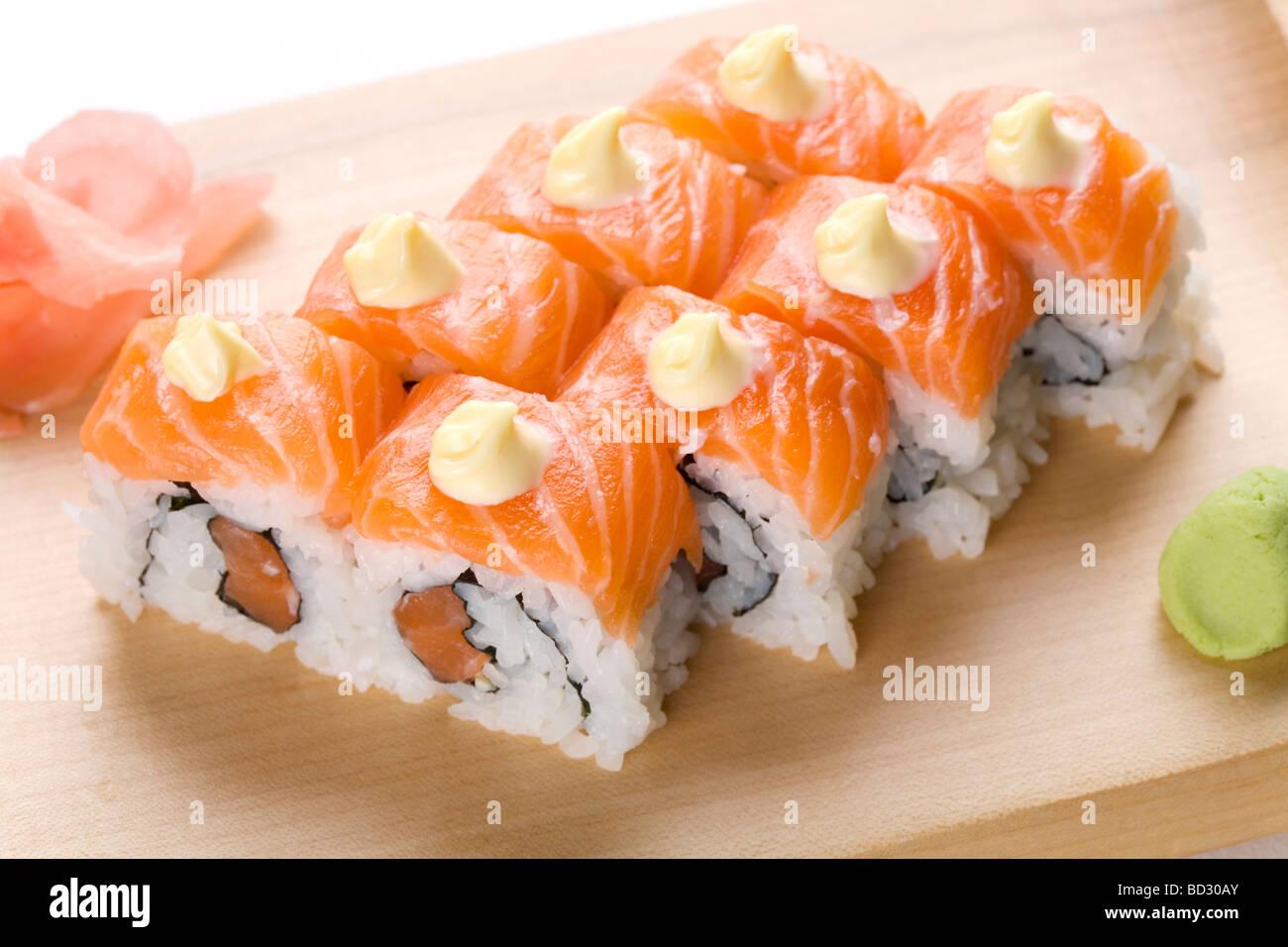 Rouleaux de sushi Photo Stock